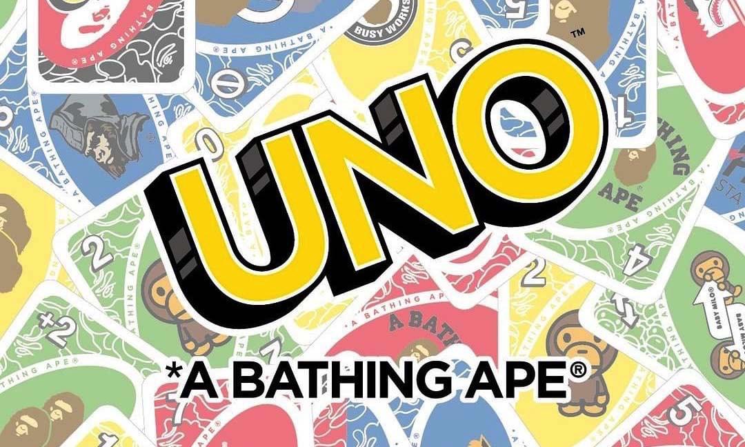 庆祝 UNO 诞生 50 周年,A BATHING APE® 与 UNO 联名系列公开