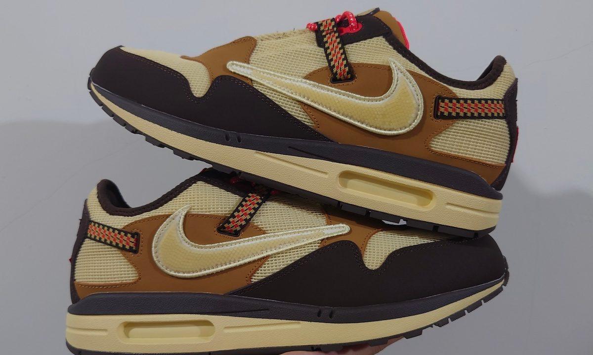 Travis Scott x Nike Air Max 1「Baroque Brown」全新细节照曝光