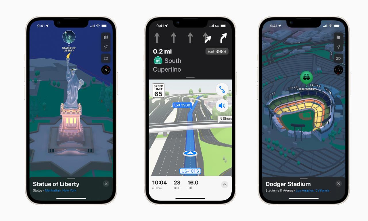 苹果 iOS 15 为个别城市推出 3D 地图功能