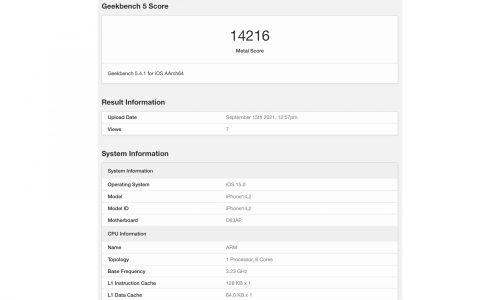 比上一代高 55%,iPhone 13 Pro 性能跑分曝光