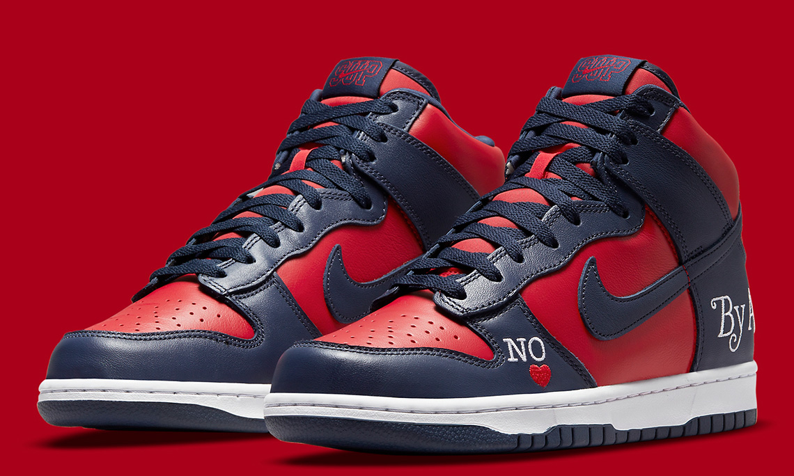 Supreme x Nike SB Dunk High「By Any Means」官方细节图亮相