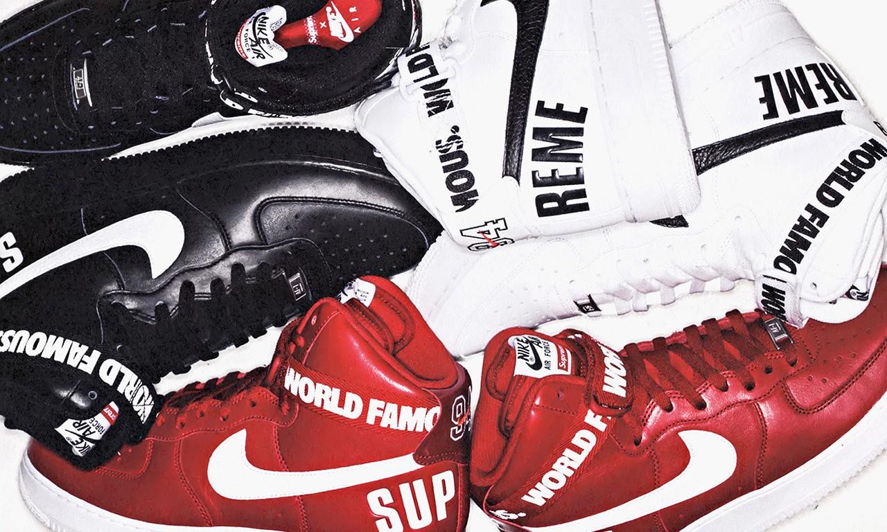 Supreme x Nike Air Force 1 High 系列抢先预览