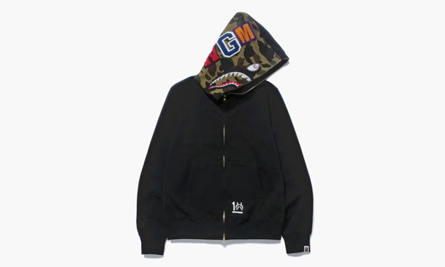 A BATHING APE SHARK FULL ZIP HOODIE 10 周年纪念系列