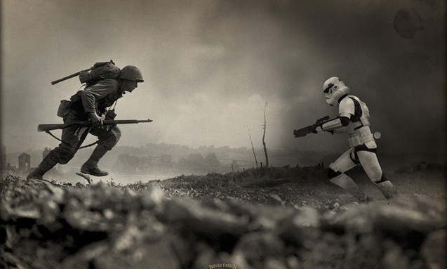 THIRTEENTHFLOOR 出品《STAR WARS》 mix 二战版画