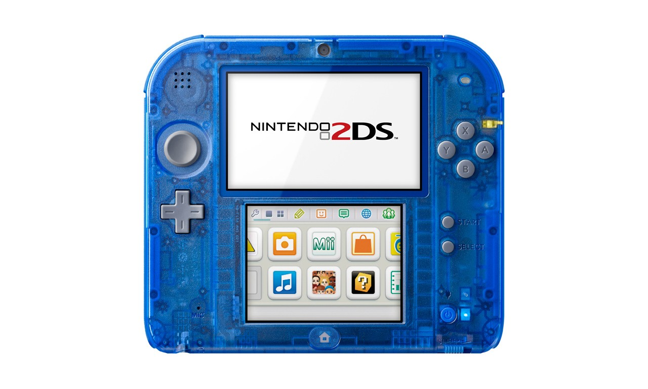 Nintendo 推出全新 Crystal Red 及 Crystal Blue 版本 2DS 掌上游戏机