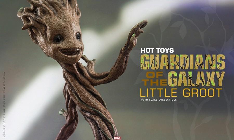 最可爱小树人!Hot Toys 全新 Little Groot 盆栽玩偶