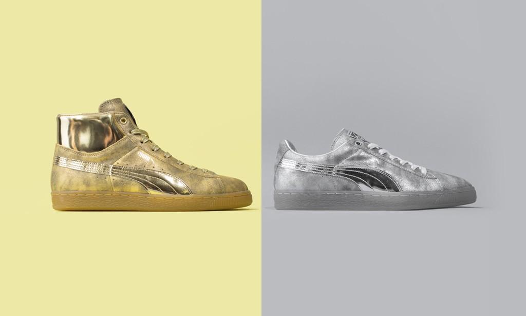 """奢华金银再袭,Meek Mill x Puma Suede""""24K White Gold""""联名套装发布"""
