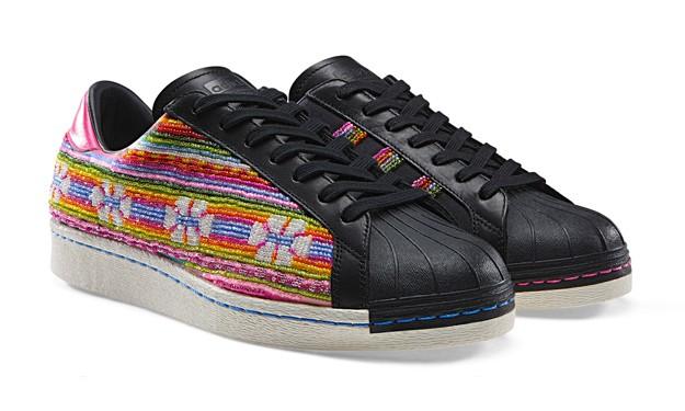 "原著民风情展现,The Pharrell x adidas Superstar ""Bolivian Beads"" 释出"