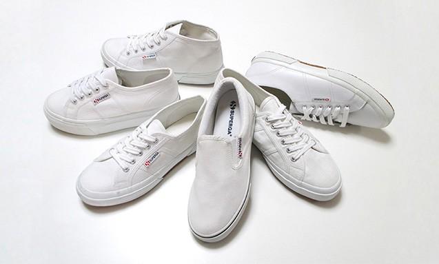 """变化丰富的""""白"""",SUPERGA 推出白色系列鞋款"""