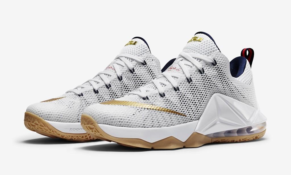 "美利坚配色尽显,Nike LeBron 12 Low ""USA"" 即将开售"