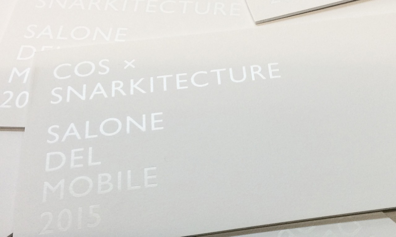 Snarkitecture x COS 在「Salone del Mobile」米兰国际家具展呈现装置艺术
