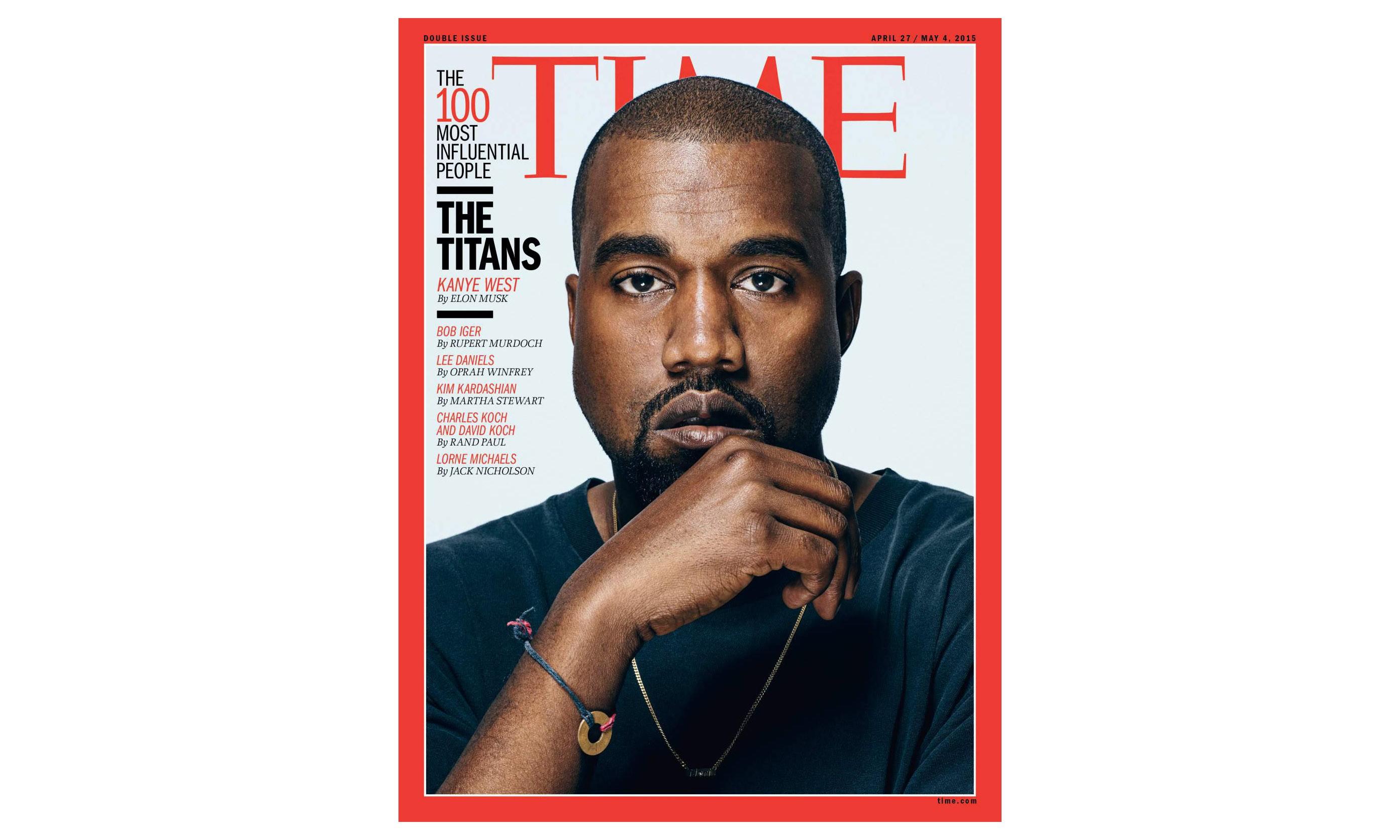 Kanye West 领衔《TIME》年度影响力百人榜单