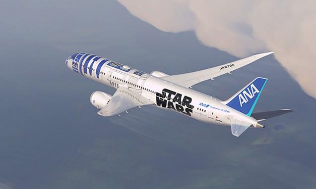 ANA 波音 787-9 机型 R2-D2 特殊涂装