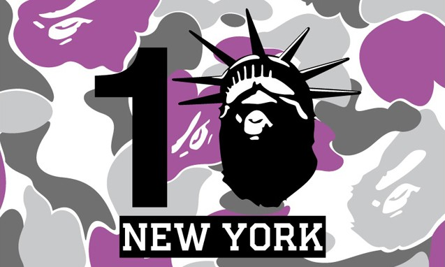 纽约 BAPE STORE 十周年纪念联名系列