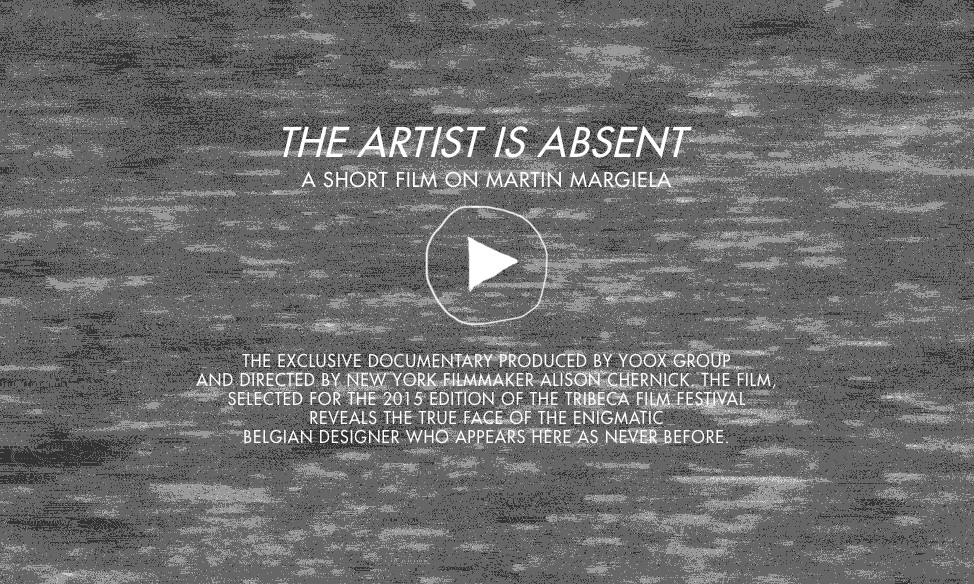 YOOX 发布《The Artist is Absent: A Short Film On Martin Margiela》预告片