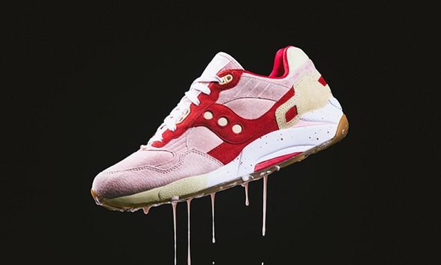 "Saucony G9 Shadow 5000 ""Vanilla Strawberry"" 鞋款"