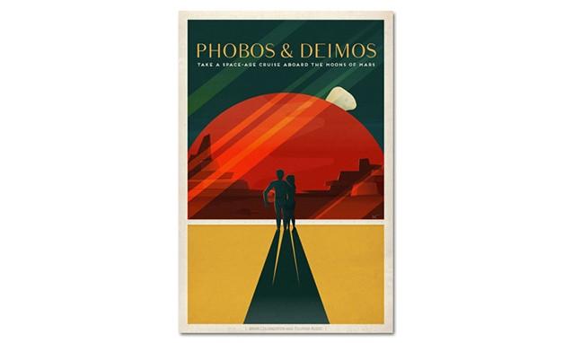 SpaceX 发布复古风火星探索计划海报