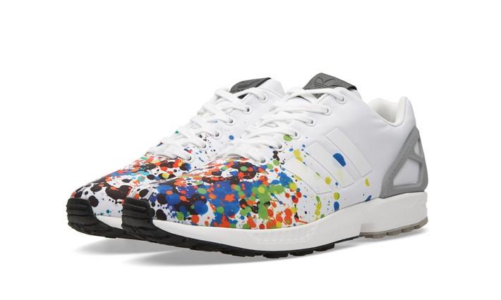 """彩色喷墨,adidas Originals ZX Flux """"Splattered Toe"""""""