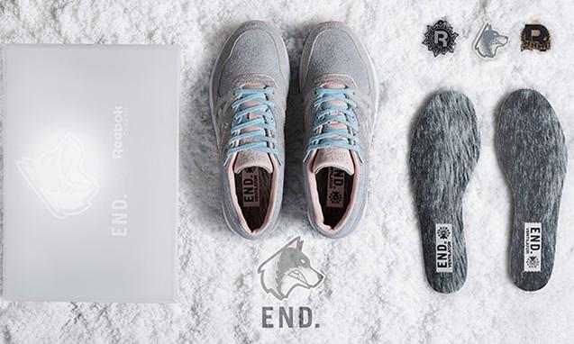 呆萌哈士奇, END. x Reebok Ventilator 'Husky' 联名鞋款正式公布