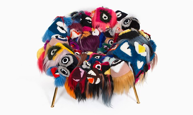 Campana Brothers x FENDI「The Armchair of Thousand Eyes」联名座椅