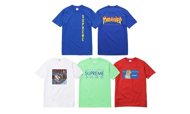 Supreme 2015 夏季 T 恤系列