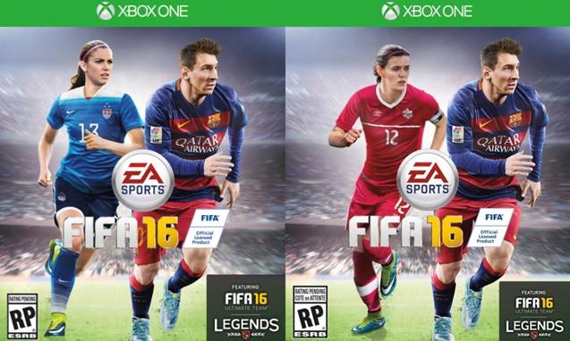 首度加入女性球员,EA 发布 FIFA 16 封面