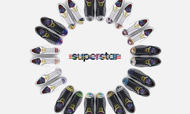 "adidas Originals = Pharrell Williams SUPERSHELL "" Artwork "" 艺术家系列合作鞋款"