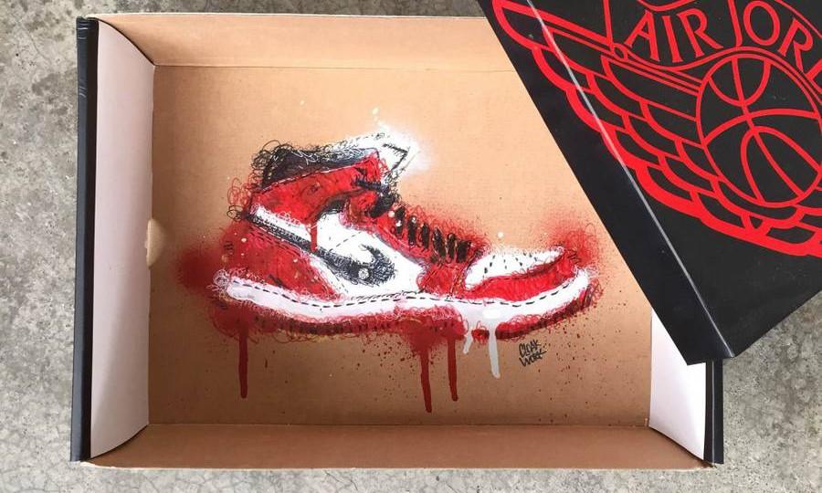 另一种诠释,插画家 Cloakwork 打造鞋盒上的艺术