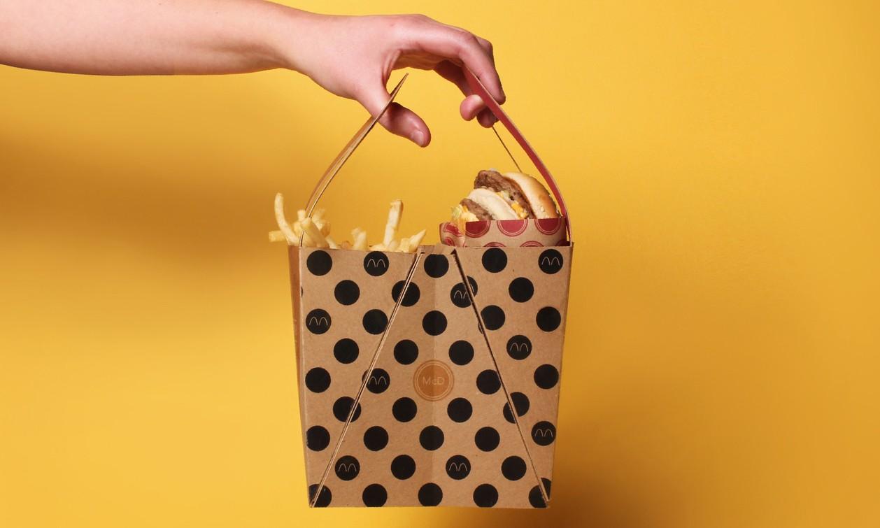 """一切为了更""""好""""吃,麦当劳巨无霸餐概念外带包装"""