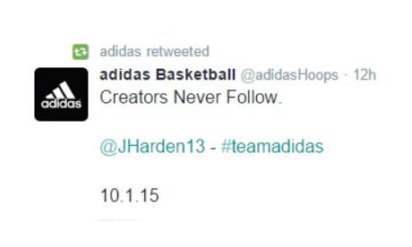 尘埃落定!adidas 正式宣布签约休斯顿火箭队全明星后卫 James Harden