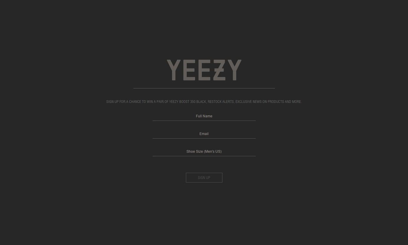 又有新动作?Yeezy Supply 网站再度神秘更新