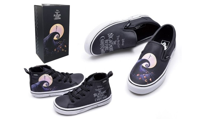 "Disney x VANS "" Nightmare Before Christmas "" 联名合作鞋款"