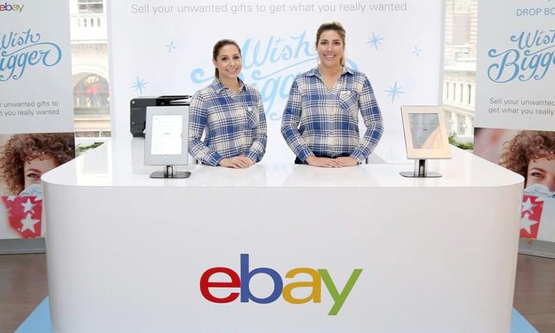 eBay 推出 Pop-up 期间限定摊位,客人可将不必要的礼品换成现金