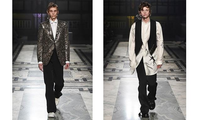 繁复华丽的哥特式宫廷风,Alexander McQueen 2016 秋冬系列伦敦男装周发布