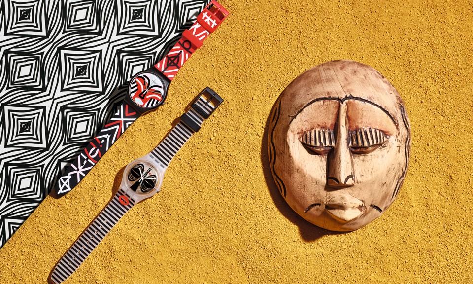 来自古老文明的神秘感,Swatch 非洲图腾腕表系列