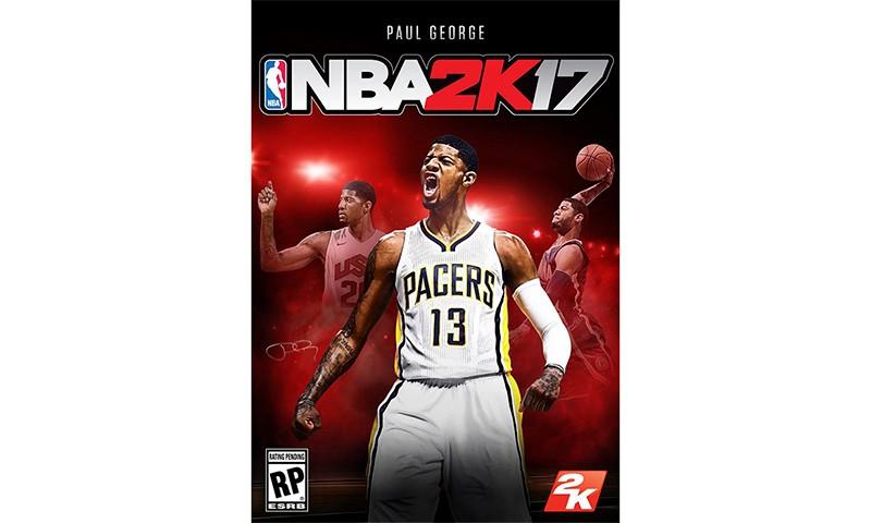 Paul George 入选 NBA 2K17 普版封面人物