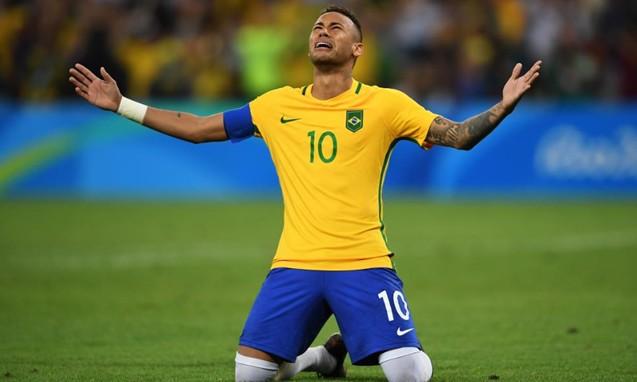 内马尔点球封喉,率领巴西队战胜德国获得奥运会历史首金