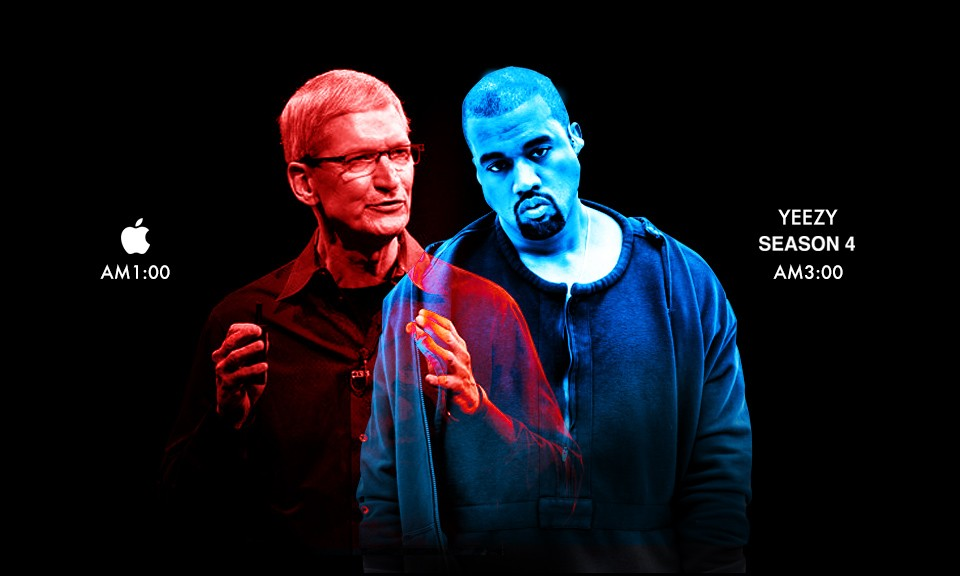 """苹果今夜 """"联手"""" Kanye,逼你熬夜看他们的新作"""