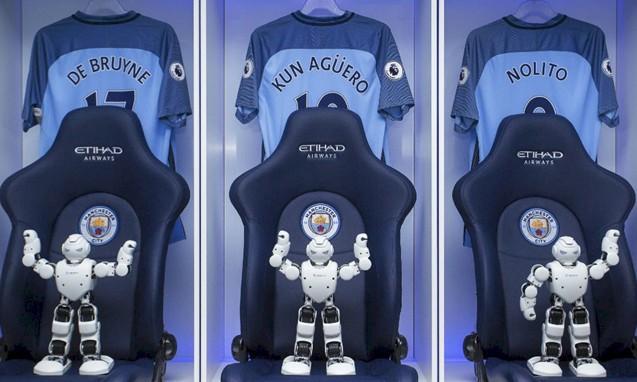 今后看曼城足球队的比赛,还有智能机器人啦啦队助兴了