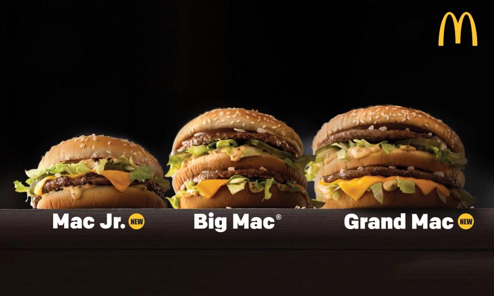 """麦当劳推出 """"巨无霸"""" 三兄弟,多大胃口都能满足了"""