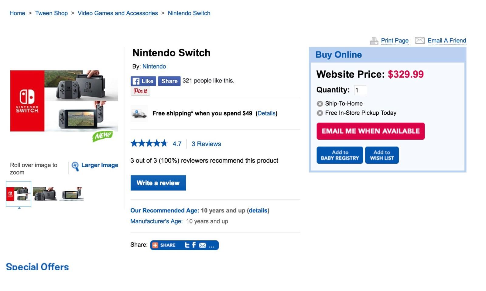 比预计的要低不少!任天堂 Switch 价格曝光
