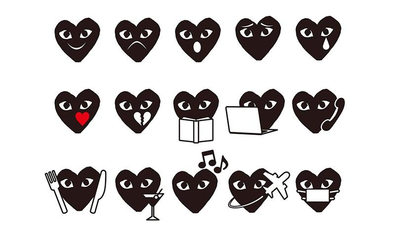 COMME des GARÇONS PLAY 带来 2016 假日系列 Emoji 表情包