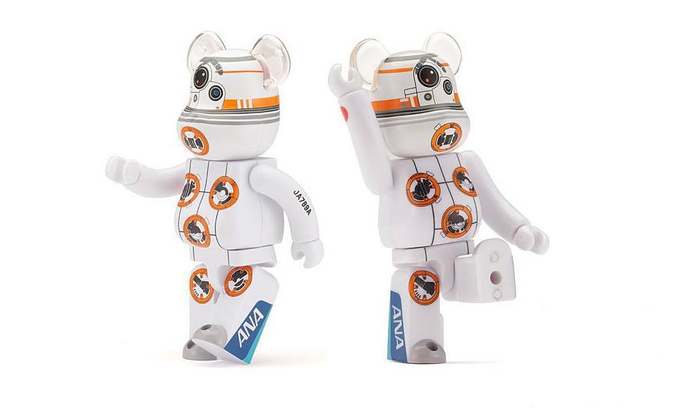 MEDICOM TOY 携手全日空航空公司打造 BB-8 星战 BE@RBRICK 玩偶