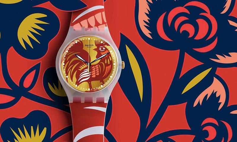 SWATCH 带来鸡年别注款限定款手表