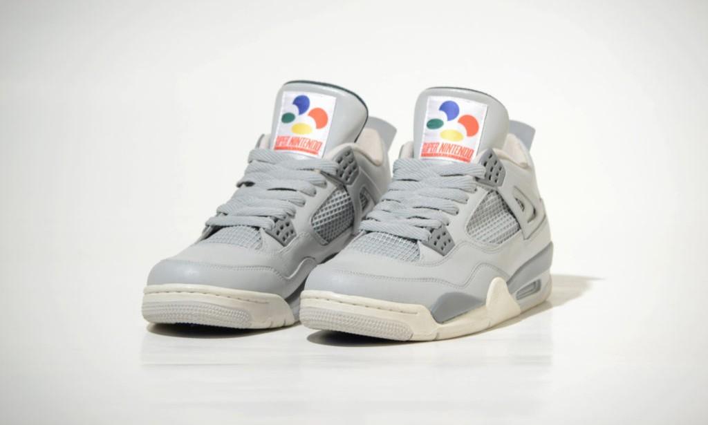 """""""游戏机 + 球鞋"""" 典范,Air Jordan IV """"Super Nintendo"""" 客制版欣赏"""