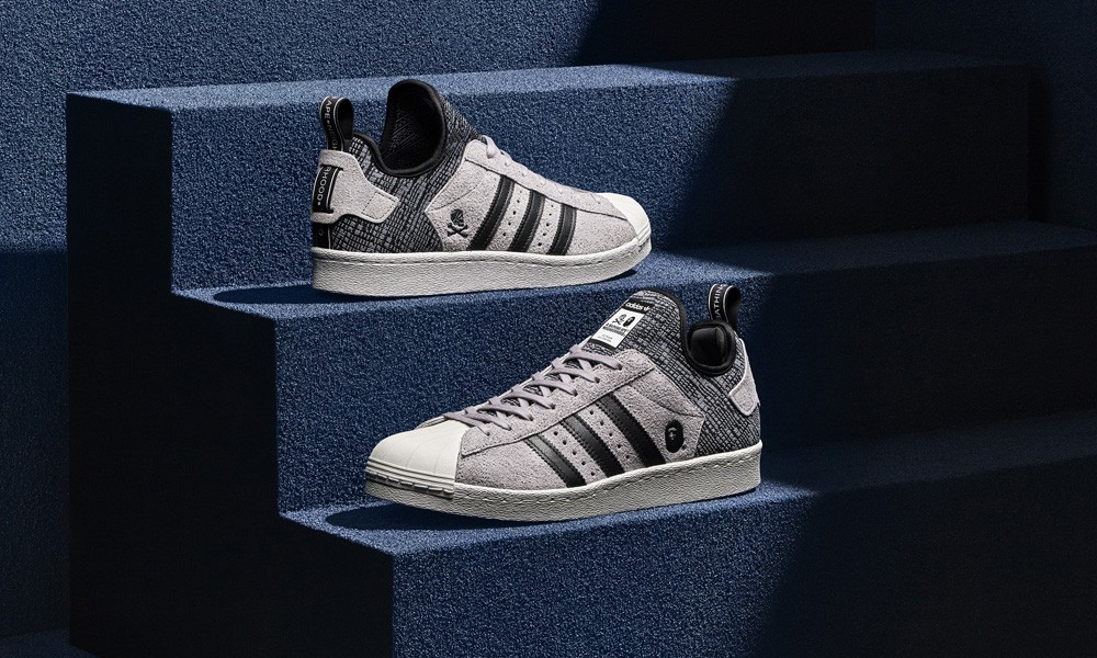 Superstar BOOST 亮相,adidas Originals by BAPE® & NEIGHBORHOOD 终极联名诞生