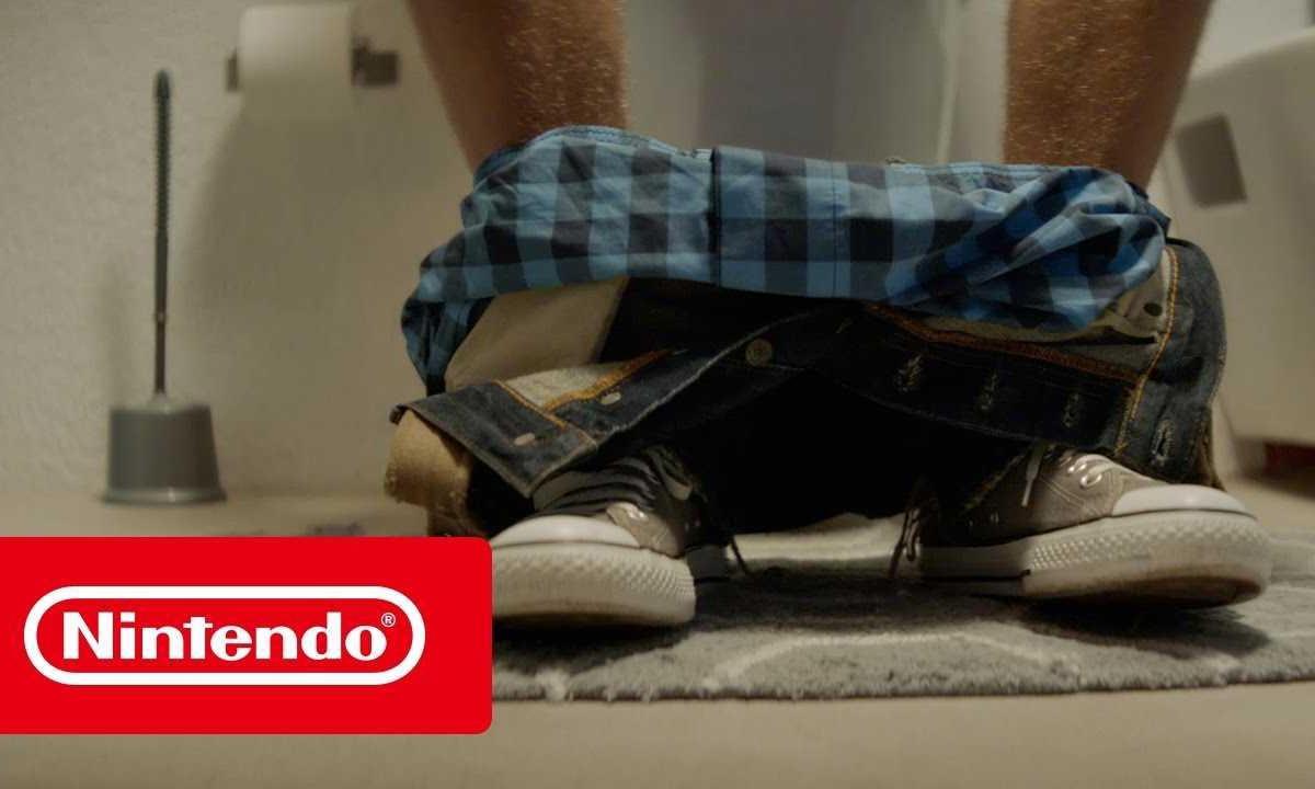 任天堂 Switch 掌机广告第二发,如厕时都停不下来游戏