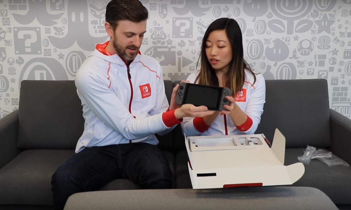 来看看 Nintendo Switch 的官方开箱视频