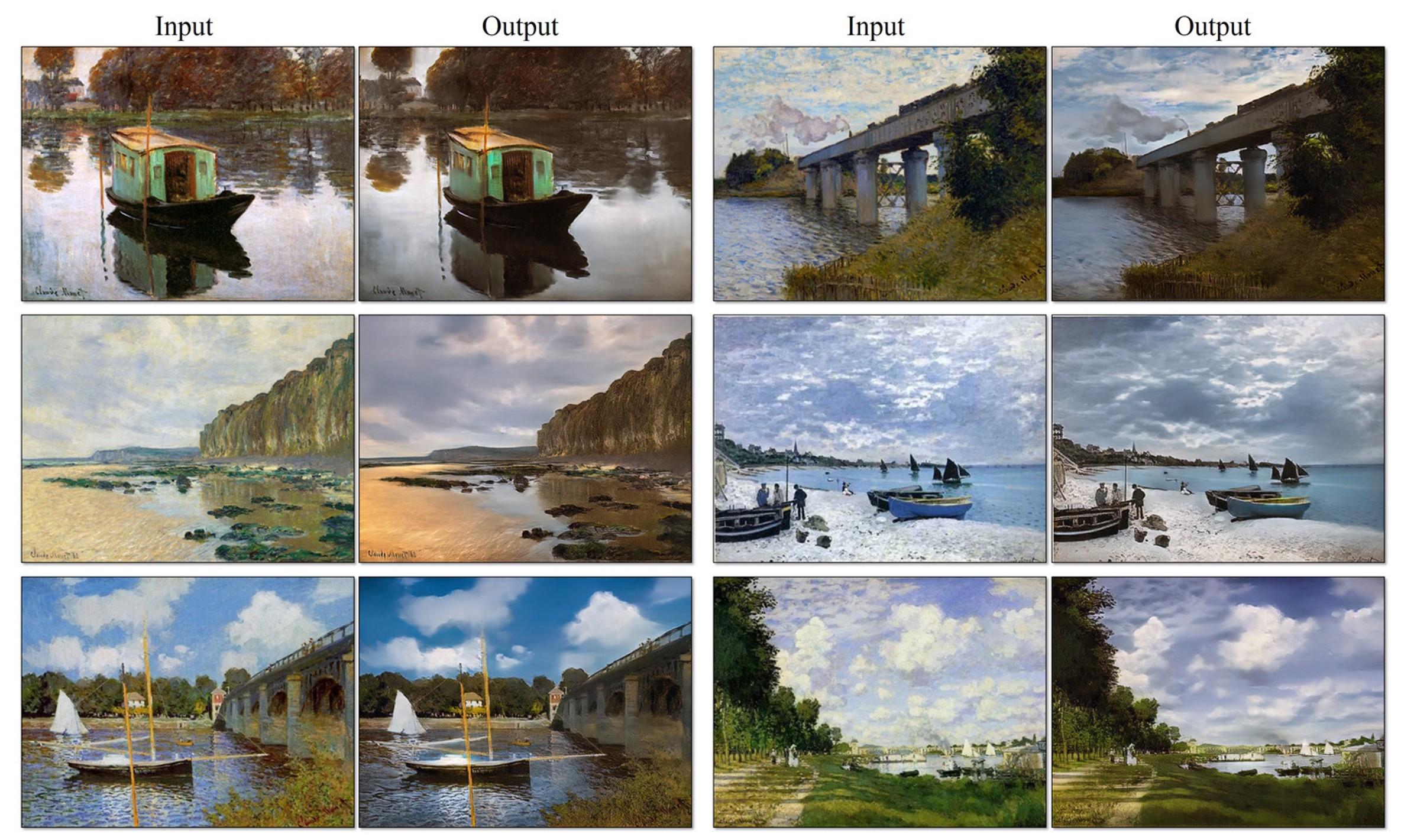 这款人工智能软件可以把所有油画转为照片